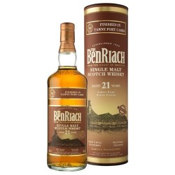 BenRiach 21 Years Tawny Port Finish. 46%, 70 cl.-20
