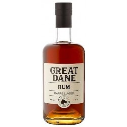 Great Dane Barrel Aged Rum. 40%-20