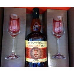 Plantation Black Cask 2017 Limited Edition, 40% 70 cl. I gaveæske + 2 glas.-20